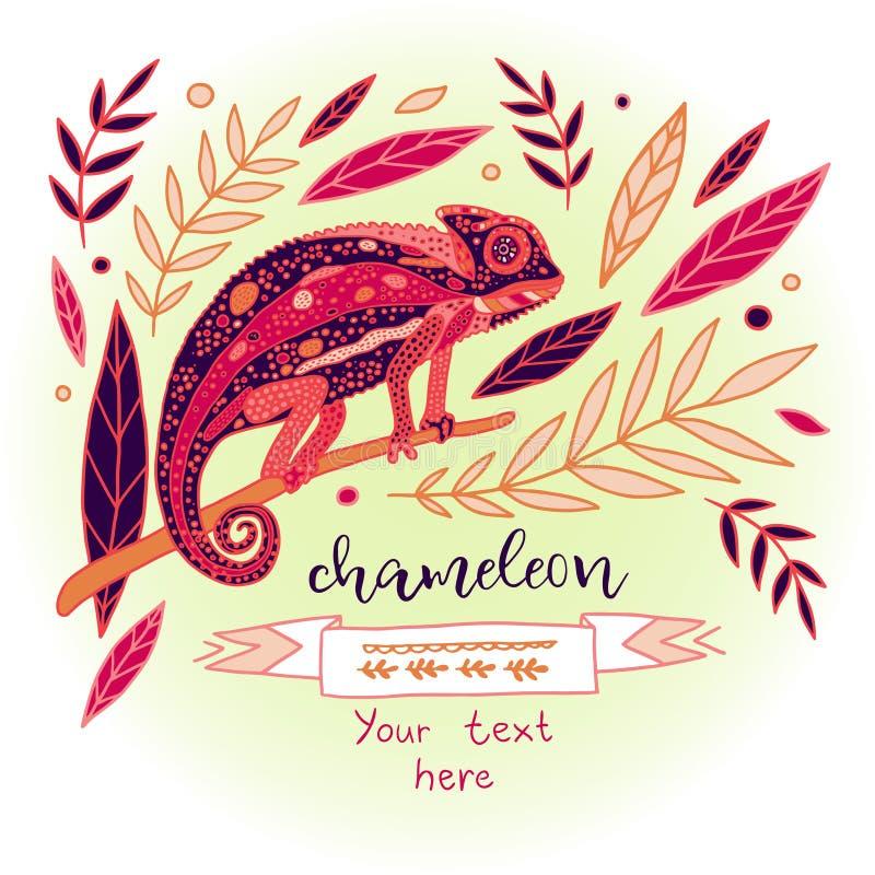 Иллюстрация цвета вектора хамелеона бесплатная иллюстрация