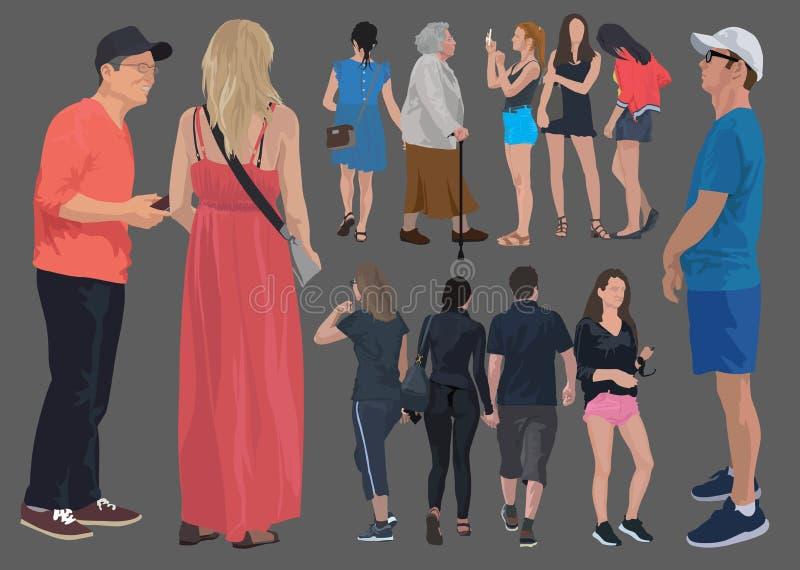 иллюстрация цвета 12 людей иллюстрация вектора