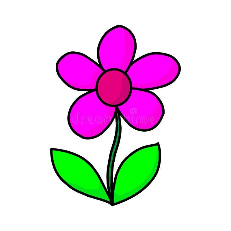 Иллюстрация цветка черный цветок, контурный цветок, цветущий цветок бесплатная иллюстрация