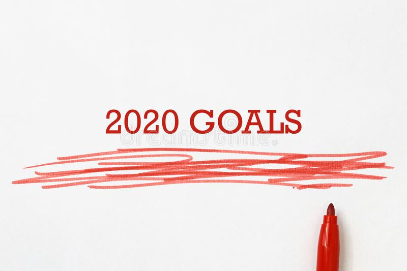 иллюстрация 2020 целей стоковые фотографии rf