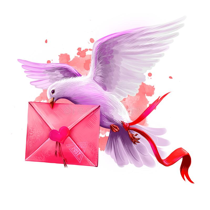 Днем, открытка голубь с письмом