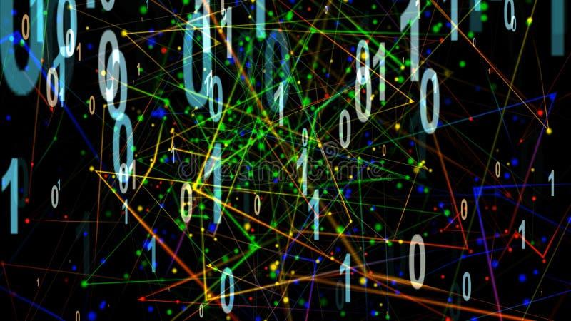 Иллюстрация частицы дигитализирования иллюстрация вектора