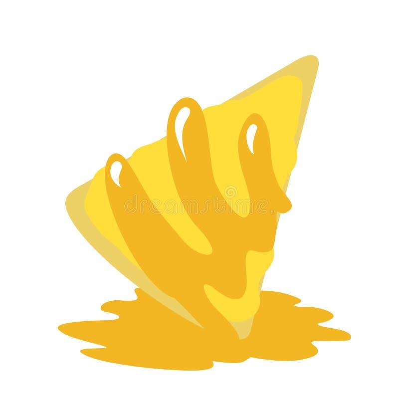 Иллюстрация части торта лимона иллюстрация штока