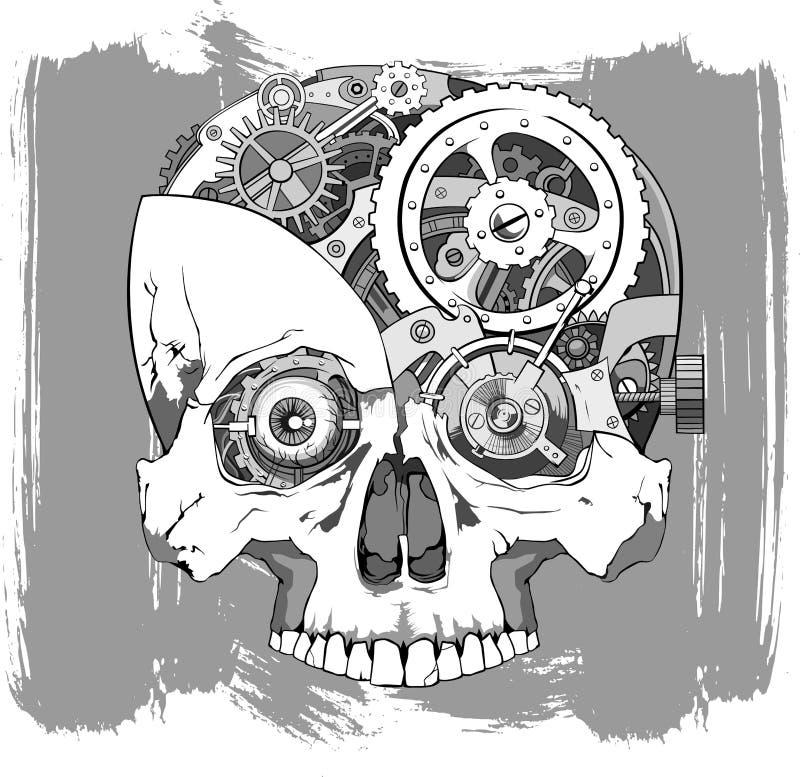 Иллюстрация черепа Clockwork бесплатная иллюстрация