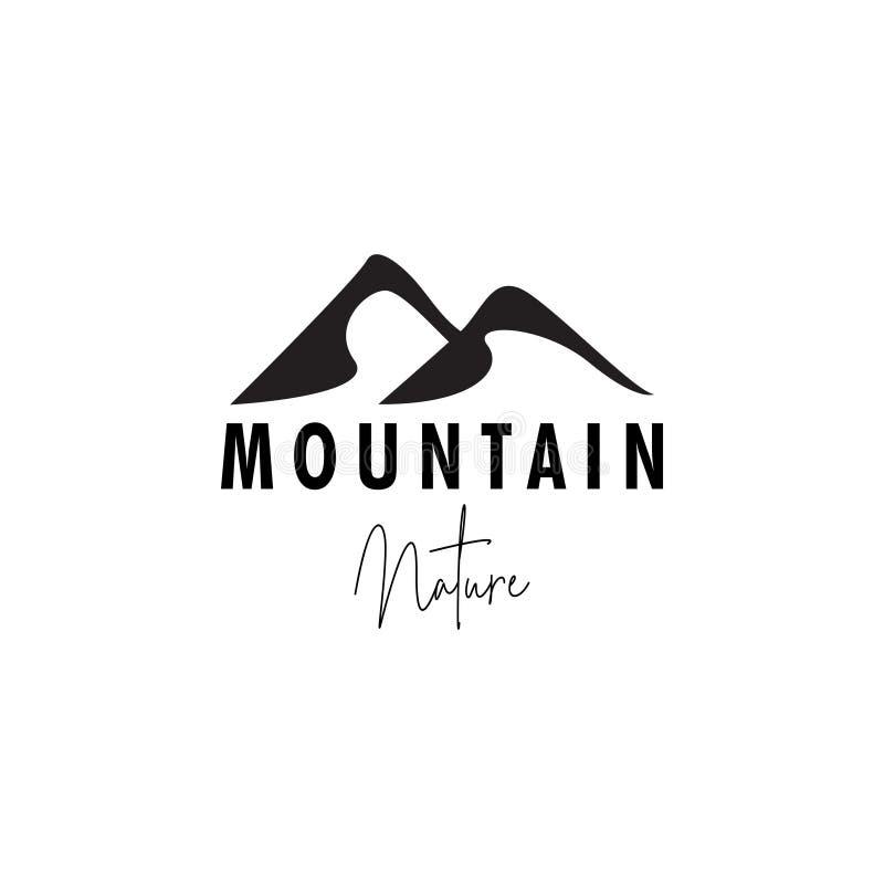 Иллюстрация шаблона дизайна логотипа горы изолированная вектором бесплатная иллюстрация