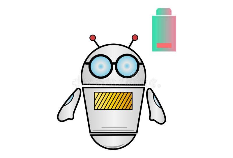 Иллюстрация шаржа вектора робота иллюстрация штока