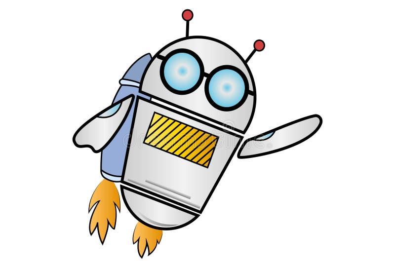 Иллюстрация шаржа вектора робота иллюстрация вектора