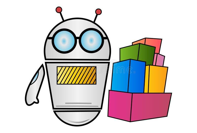 Иллюстрация шаржа вектора робота бесплатная иллюстрация