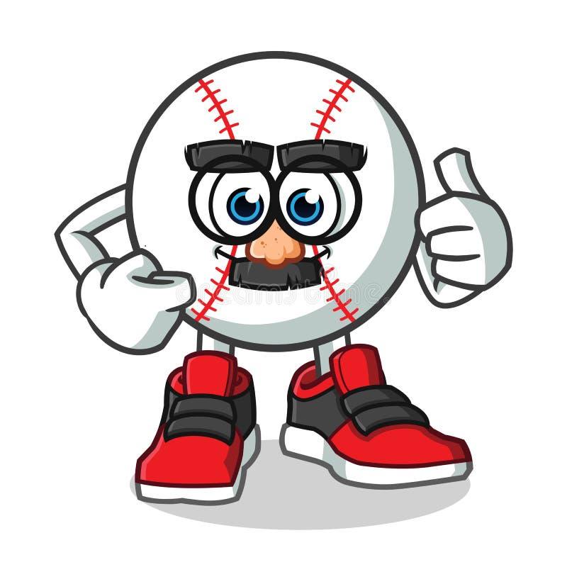 Иллюстрация шаржа вектора талисмана лицевого щитка гермошлема бейсбола смешная бесплатная иллюстрация