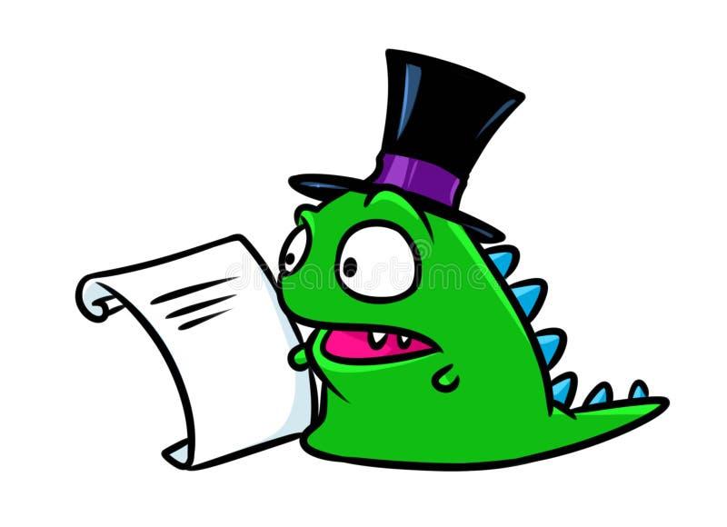 Иллюстрация шаржа динозавра дела фантазии характера бесплатная иллюстрация