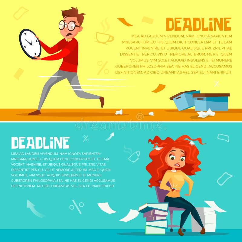 Иллюстрация шаржа крайнего срока менеджеров офиса бесплатная иллюстрация
