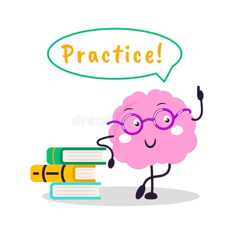 Иллюстрация шаржа характера потехи вектора тренировки мозга плоская бесплатная иллюстрация