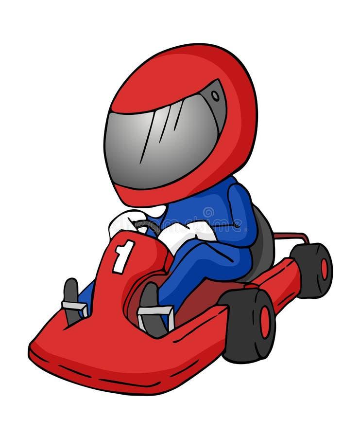 Иллюстрация шаржа karting иллюстрация штока