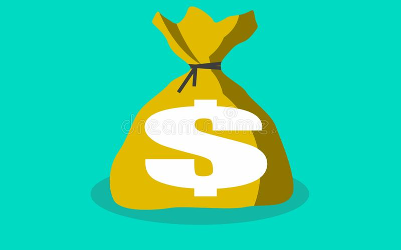 Иллюстрация шаржа Moneybag плоская простая иллюстрация вектора