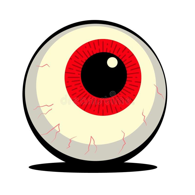 Иллюстрация шарика глаза хеллоуина красная бесплатная иллюстрация