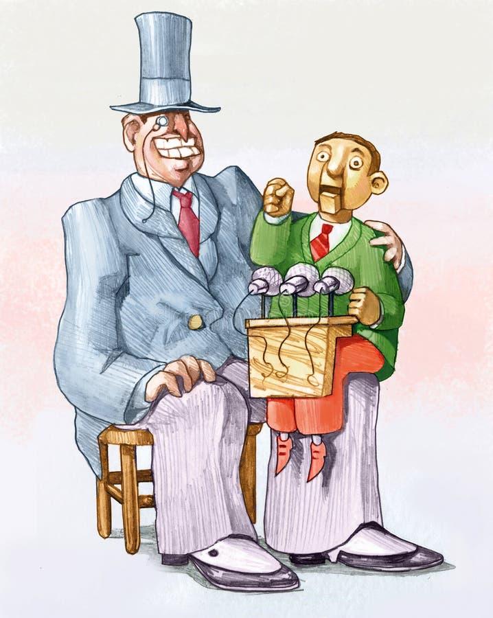Иллюстрация электоральной тряпичной куклы политическая иллюстрация штока