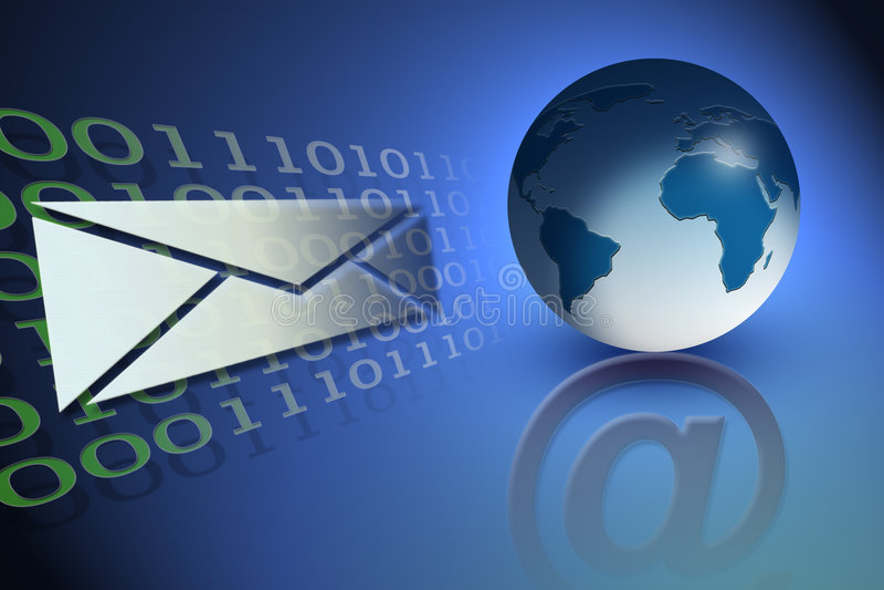 иллюстрация электронной почты принципиальной схемы иллюстрация вектора