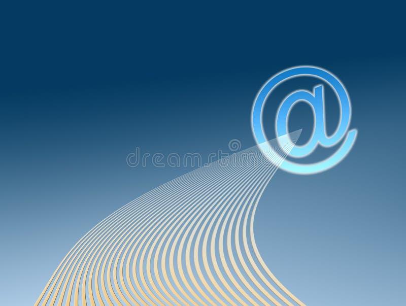 иллюстрация электронной почты иллюстрация вектора