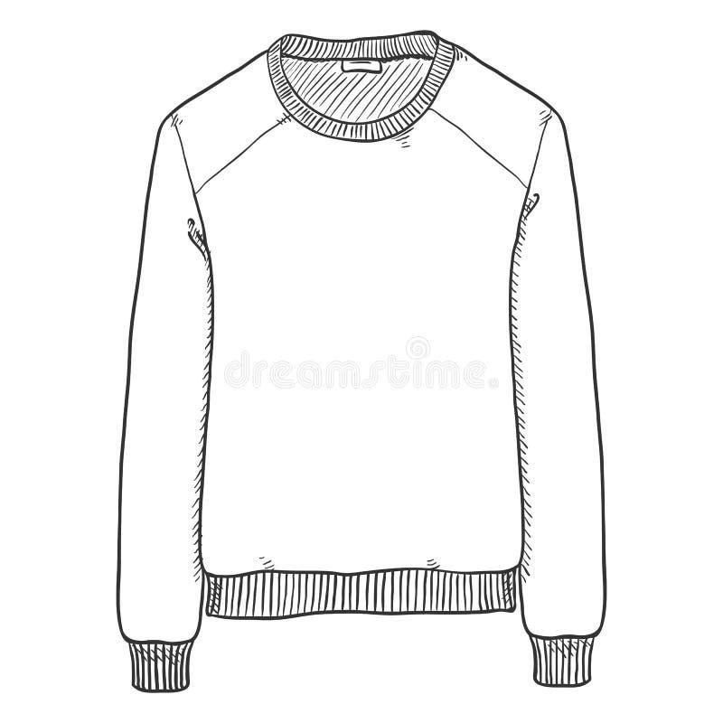Иллюстрация эскиза вектора - основная рубашка пота бесплатная иллюстрация