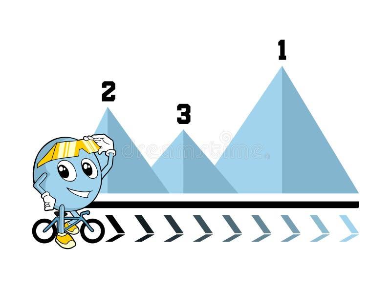 Иллюстрация этапа велосипедиста иллюстрация вектора