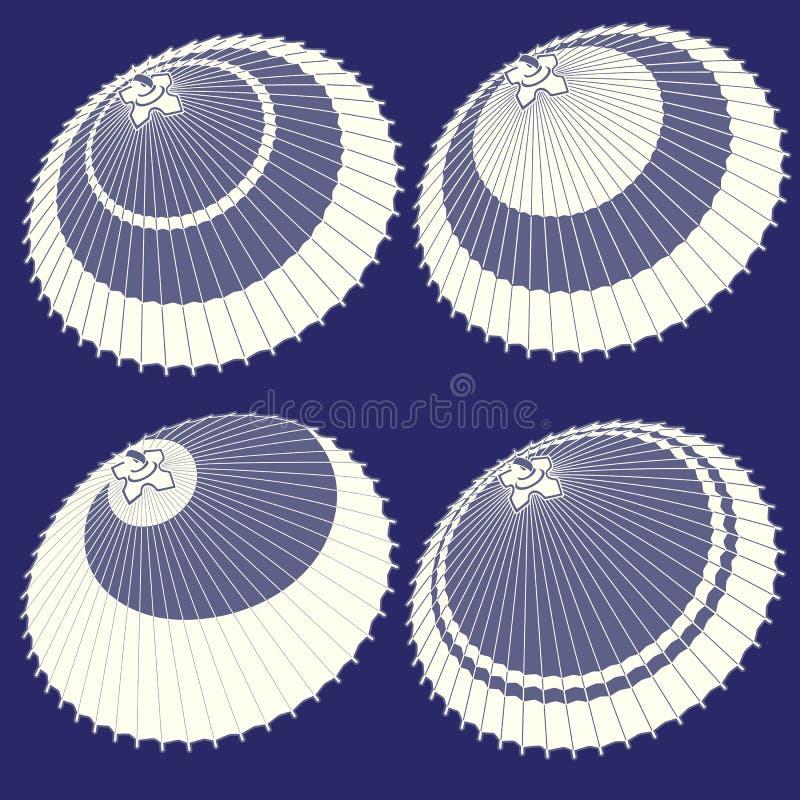 Иллюстрация японского традиционного зонтика, бесплатная иллюстрация