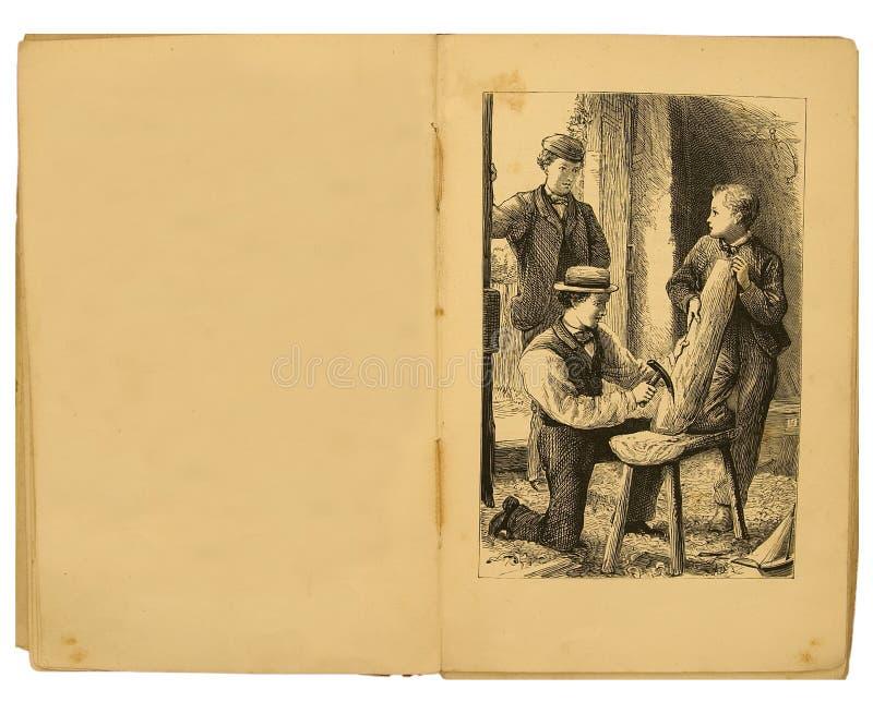 иллюстрация 1884 детей книги стоковое изображение