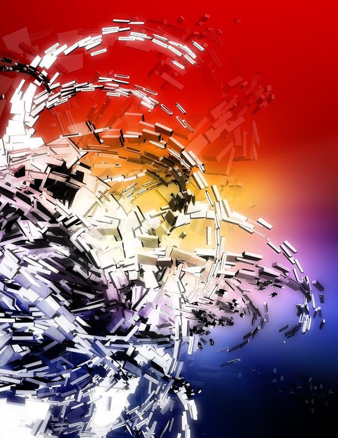 иллюстрация 3d сюрреалистическая иллюстрация вектора
