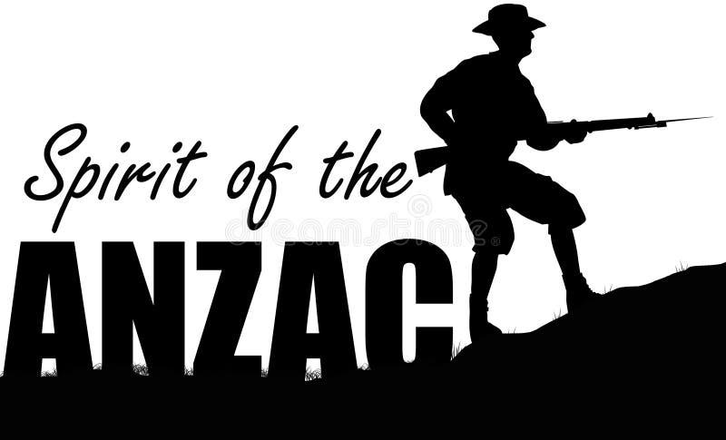 Иллюстрация ANZAC solider иллюстрация вектора
