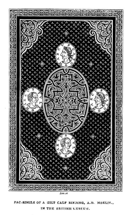 Иллюстрация Bookbinding стоковое изображение rf