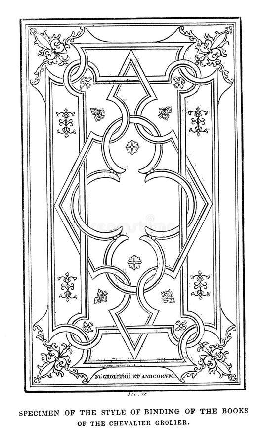 Иллюстрация Bookbinding стоковое изображение
