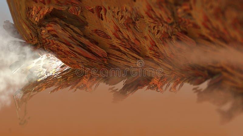Иллюстрация 3d абстрактного геометрического макроса структуры Зеппелина утеса природы деревянного поверхностного цифровая бесплатная иллюстрация