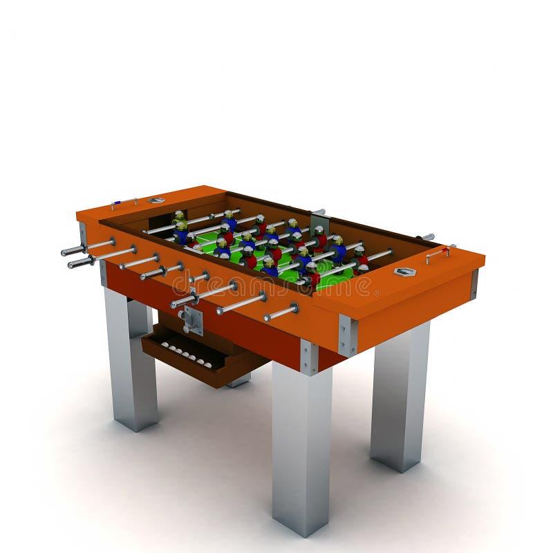 иллюстрация 3D вектора настольной игры таблицы футбола и футбола бесплатная иллюстрация