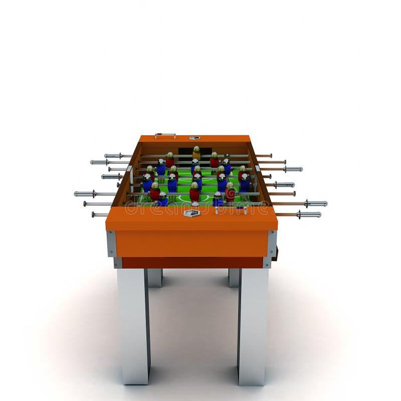 иллюстрация 3D вектора настольной игры таблицы футбола и футбола иллюстрация вектора