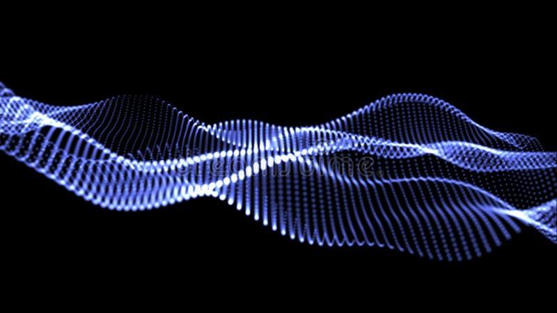 иллюстрация 3D голубых волн много светов стоковые изображения rf