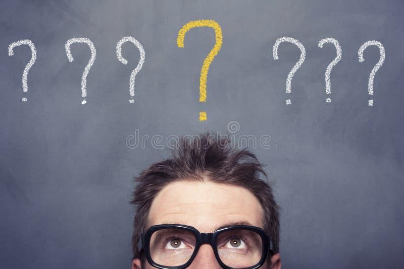 иллюстрация 3d маркирует представленный вопрос стоковые фото