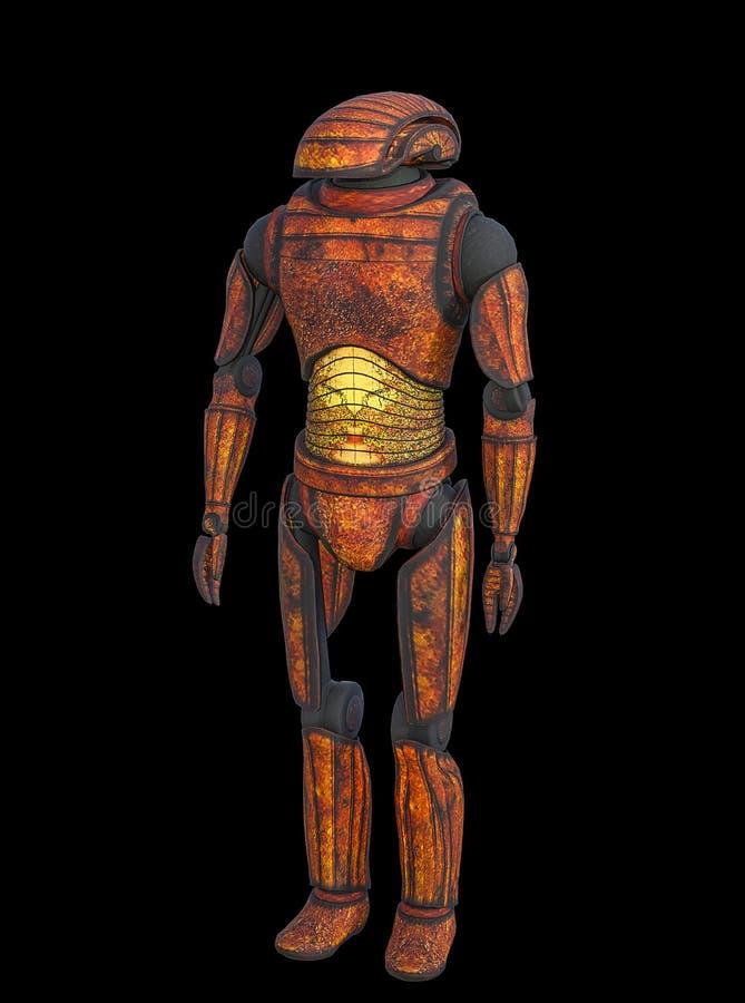иллюстрация 3D старого ржавого робота иллюстрация вектора