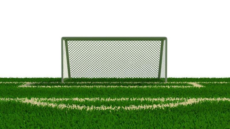 иллюстрация 3d футбольного поля иллюстрация штока
