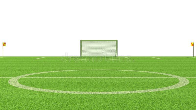 иллюстрация 3d футбольного поля иллюстрация вектора