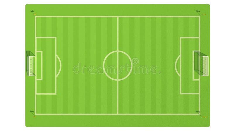 иллюстрация 3d футбольного поля бесплатная иллюстрация