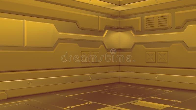 иллюстрация 3d футуристического интерьера космического корабля дизайна бесплатная иллюстрация
