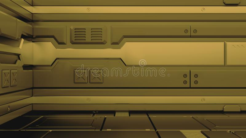 иллюстрация 3d футуристического интерьера космического корабля дизайна представьте бесплатная иллюстрация