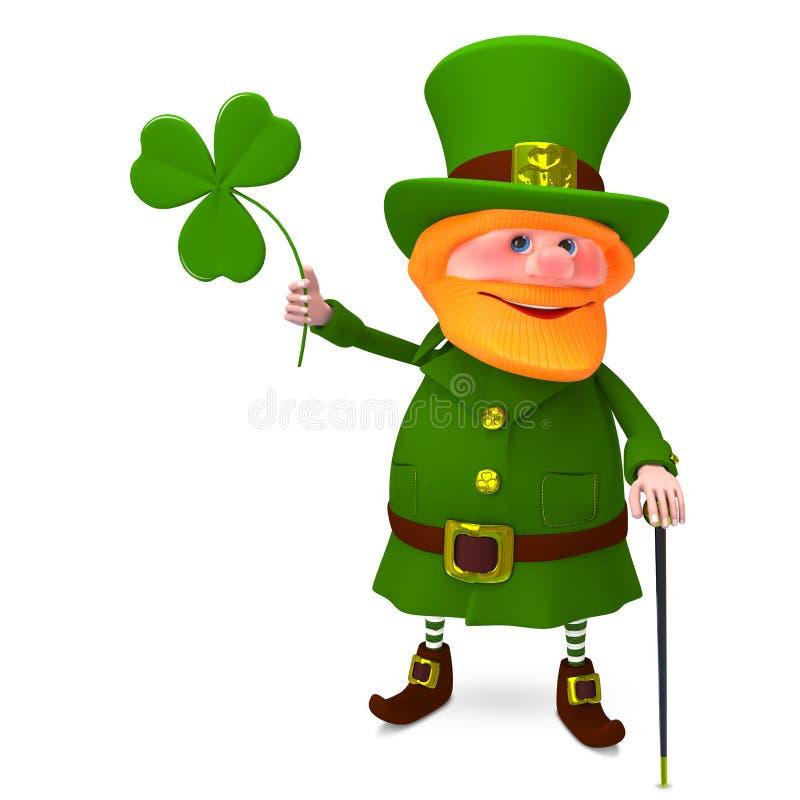 иллюстрация 3D St. Patrick с клевером бесплатная иллюстрация
