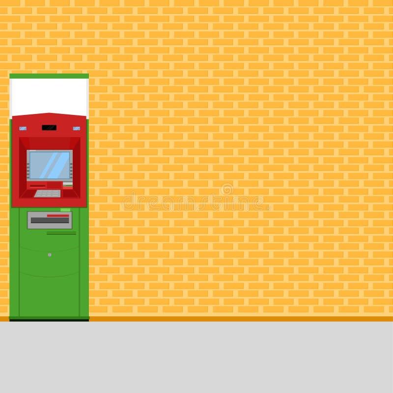 Иллюстрация eps10 вектора обслуживания тайского зеленого цвета atm красная бесплатная иллюстрация