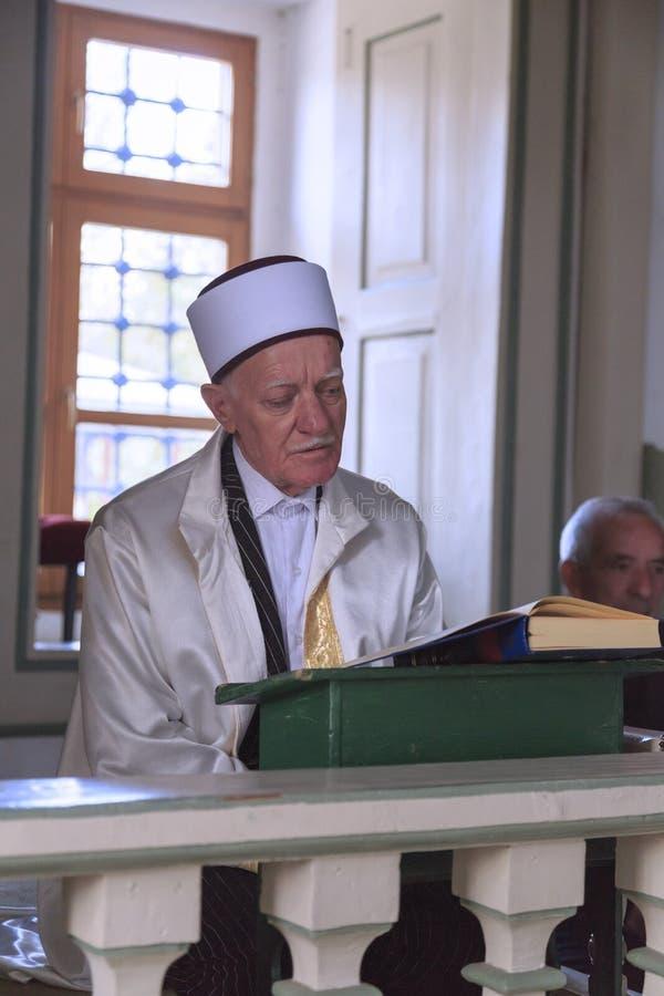 Имам мечети паши Mustafa, скопья, македонии стоковая фотография