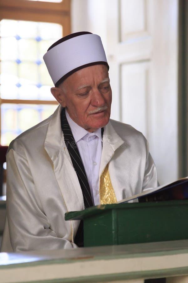 Имам мечети паши Mustafa, скопья, македонии стоковое фото
