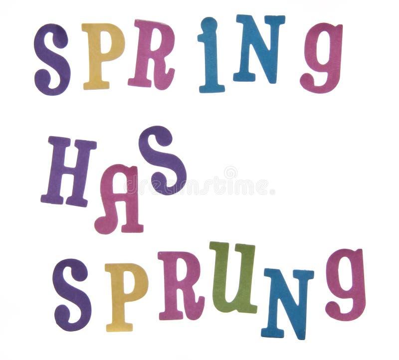 имеет весну быть поскаканным стоковые изображения