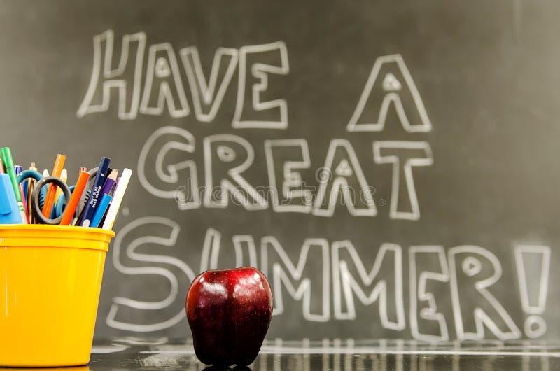 Имейте большое лето стоковое изображение rf