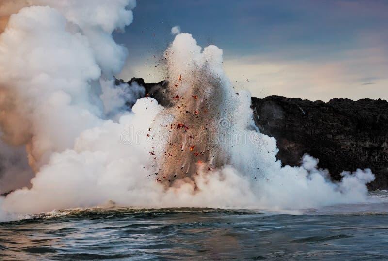 Имейте взрыв лавы стоковая фотография rf