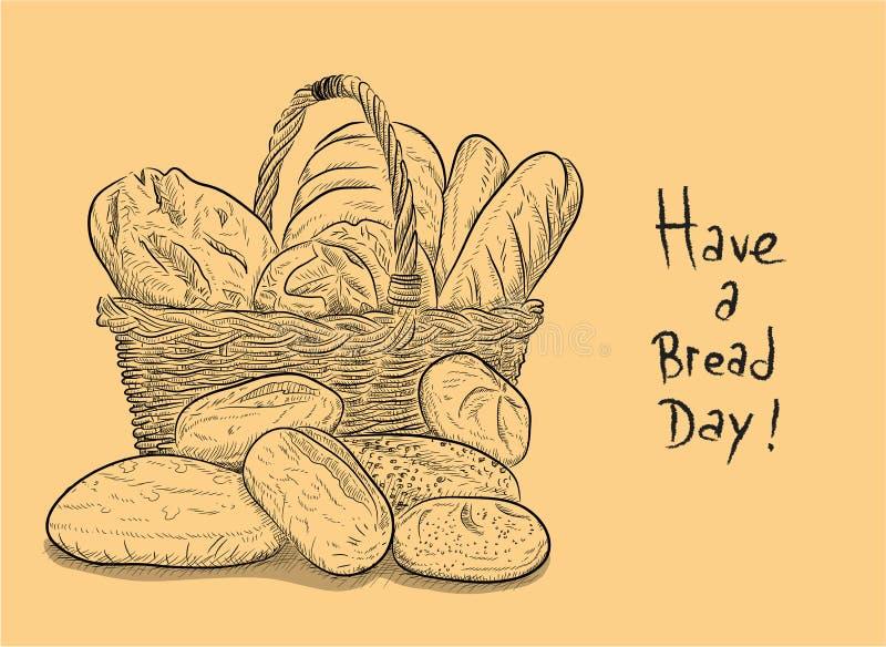 Имейте день хлеба бесплатная иллюстрация
