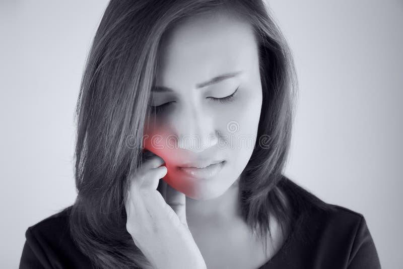 Имейте toothache стоковое изображение